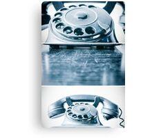 the blue telephone II Canvas Print