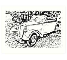 DKW F8 - 700 Convertible Art Print