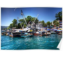 Boats on the Bosphorus Poster