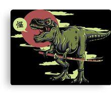 Ninja Dino Canvas Print
