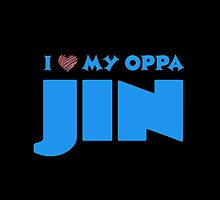 I HEART MY OPPA JIN - BLACK  by Kpop Seoul Shop