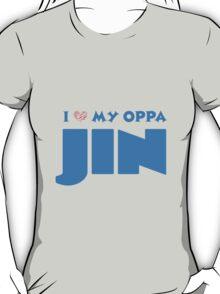I HEART MY OPPA JIN - BLACK  T-Shirt