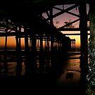 pier at sunset  by bron stadheim
