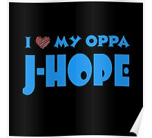 I HEART MY OPPA J-HOPE  - BLACK  Poster