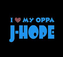 I HEART MY OPPA J-HOPE  - BLACK  by Kpop Seoul Shop