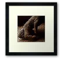 Hand gesture Framed Print