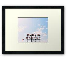 public market. Framed Print