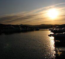 Sunset on the Marina by David Gimlett