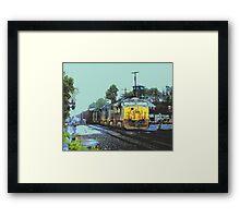 CSX Train in Downtown Ashland Framed Print