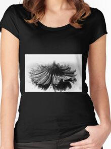 Flower #2 in Black and White. Women's Fitted Scoop T-Shirt