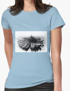 Flower #2 in Black and White. Womens Fitted T-Shirt