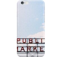 public market. iPhone Case/Skin