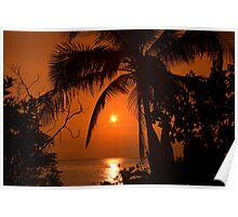 Tropical Sunset in Paradise Poster