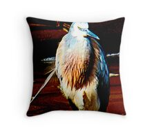 Stalk bird  Throw Pillow