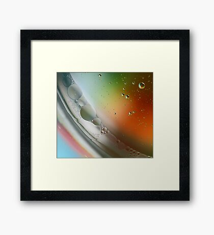 Abstract Oil in water art. Framed Print