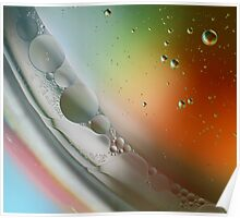 Abstract Oil in water art. Poster