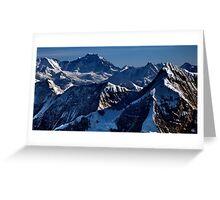 himalayan mountains, nepal Greeting Card