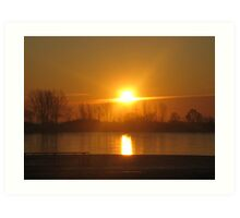 Sunrise XII (Lakeshore) Art Print