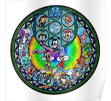 Stained Glass Tiny Toons Adventures Drawing Poster