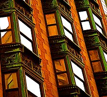 Windows in Midtown Manhattan, NYC by RonnieGinnever