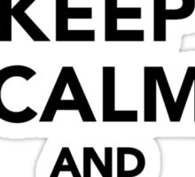 Keep calm and love Astronomy Sticker
