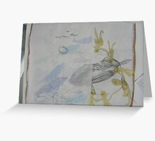 eco-whale Greeting Card