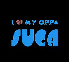 I HEART MY OPPA SUGA  - BLACK  by Kpop Seoul Shop