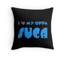 I HEART MY OPPA SUGA  - BLACK  Throw Pillow