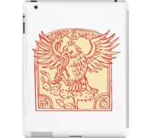 Mexican Eagle Devouring Snake Etching iPad Case/Skin
