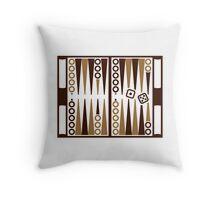 Backgammon board Throw Pillow