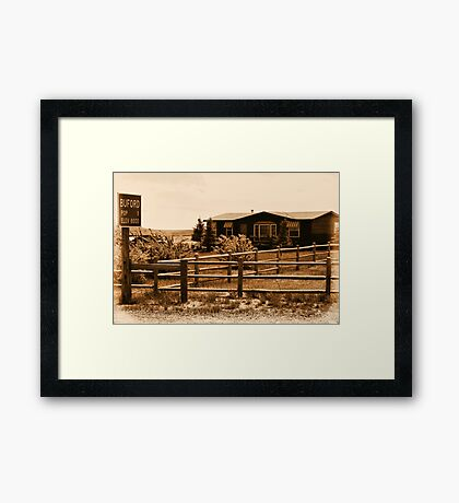 A Small Wyoming Town Framed Print