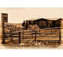 A Small Wyoming Town Photographic Print