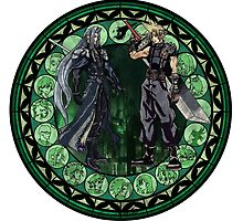 Stained Glass Final Fantasy 7 Drawing by trevorao