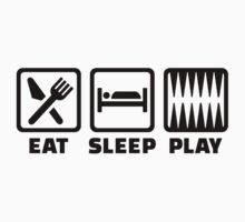 Eat sleep play Backgammon Kids Clothes