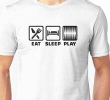 Eat sleep play Backgammon Unisex T-Shirt