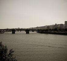 Willamette River + Downtown Portland by Mike Truong
