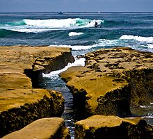 La Jolla Shoreline by photosbyflood