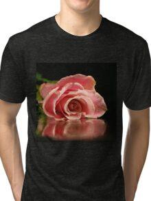 Pink rose. Tri-blend T-Shirt