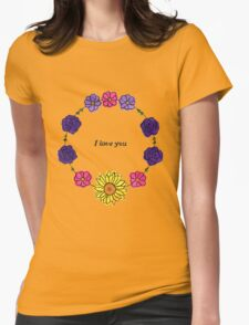 Floral Love Womens Fitted T-Shirt