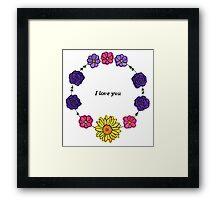 Floral Love Framed Print