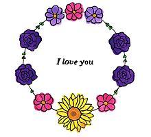 Floral Love Photographic Print