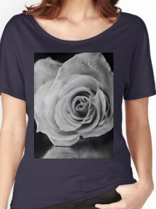 Black and white rose. Women's Relaxed Fit T-Shirt