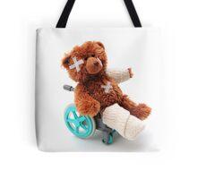 Bear in a wheelchair Tote Bag