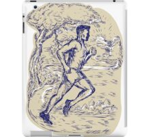 Marathon Runner Running Drawing iPad Case/Skin