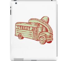 Sombrero School Bus Etching iPad Case/Skin