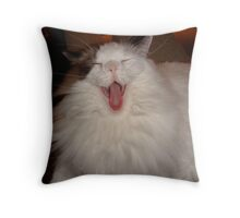 Mom, Your Yawn is soooo Catchy!! Throw Pillow