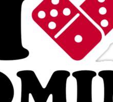 I love Domino Sticker