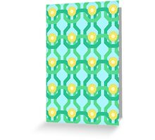 Yellow Flower Knit Pattern Greeting Card