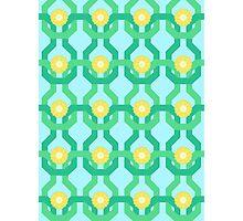 Yellow Flower Knit Pattern Photographic Print
