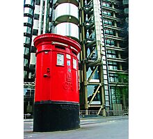 Post Box and Lloyds Building London Photographic Print